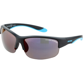 Alpina Flexxy HR Glasses Youth black matt-blue/blue mirror